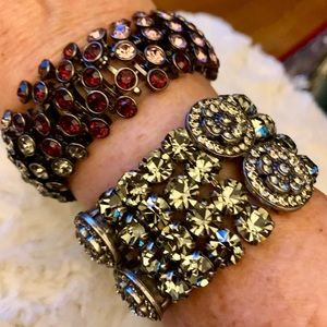 Set of 2 Costume rhinestone stretch Bracelets